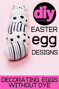 Decorate Easter eggs without dye for beautiful eggs without the mess. Explore beautiful, dye-free Easter egg designs you can create for the holiday. Easter Egg Designs, Easter Ideas, Diy Gifts For Kids, Coloring Easter Eggs, Easter Colors, Diy Easter Decorations, Egg Decorating, Easter Crafts, Kids Crafts