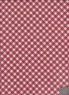 "Check Red  ""Mosaic Bloom"" designed by Rosalie Dekker."