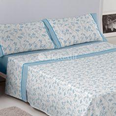 Juego de Sábanas PAOLA Es-tela. Este juego de sábanas de la firma Estela presenta un sencillo y clásico diseño floral. Perfecto para renovar la ropa de cama de cualquier habitación de la casa.