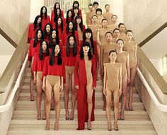 vanessa beecroft. Her pieces are extremely powerful and send a powerful message. I love how she uses mass groups of women and how they are real people standing in for her work, it makes it that much more of a statement.