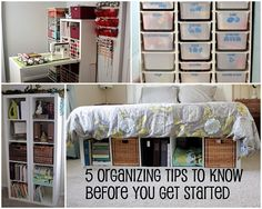 5 home/office organizing tips to know before you get started. She also has sewing rm tips Office Organization Tips, Organization Station, Organizing Your Home, Organizing Tips, Organising, D House, Lego, Diy Home, Home Decor