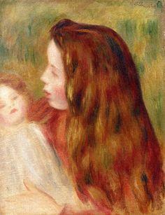 Little Girl with Doll  Pierre Auguste Renoir