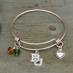 Baylor Bears Wire Memory Bracelet with Charms J and D Jewelry and More http://www.amazon.com/dp/B01575A1R4/ref=cm_sw_r_pi_dp_Iycjwb1CENSHR