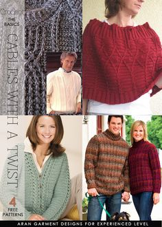 4 classic crochet aran style garments to try | free patterns | DiaryofaCreativeFanatic