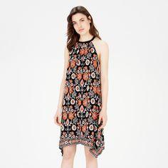 Warehouse, Border Floral Halter Dress Black Pattern 4