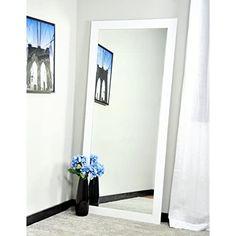 BrandtWorks Floor Mirror, 32″ x 66″, Pure White White Wall Mirrors, Vanity Wall Mirror, Contemporary Floor Mirrors, Tall Mirror, White Vanity, Modern Vanity, Mirrors Wayfair, Beveled Mirror, Traditional Bathroom
