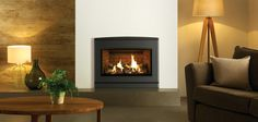 If a freestanding stove isn't for you, why not opt for one of Yeoman's efficient inset gas fires? With three different designs to choose from, you can find Tv Above Fireplace, Fireplace Beam, Concrete Fireplace, Gas Fireplaces, Modern Fireplaces, Glass Fronted Gas Fire, Inset Stoves, Wall Fires, New Stove