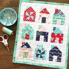 Finished up my mini Dwell quilt on this sunny Saturday! I auditioned a few…