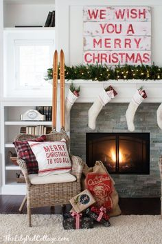 Christmas Mantel by The Lilypad Cottage