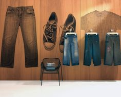 Jeans, Sneakers, and Tee Shirt from the Clothiers Collection in cherry #InfusedVeneer by #BNIndustries