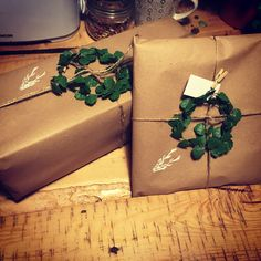 Christmas wrapping - made with love for my family