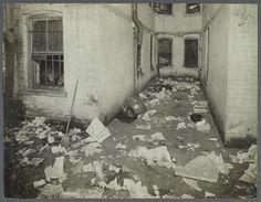 TENEMENT LIFE: Airshaft with Garbage, c. 1900
