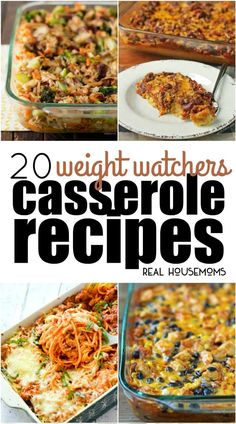 These 20 Weight Watchers Casserole Recipes will help you eat better while still enjoying your favorite easy casserole recipes! #RealHousemoms #weightwatchers #casserole #dinner #comfortfood #wwpoints