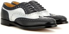 These Church's Burwood Patent Leather Brogues are a quirky take on he classic black and white style.