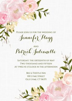 Garden wedding invitation ideas #wedding #invitation #flowers #floral