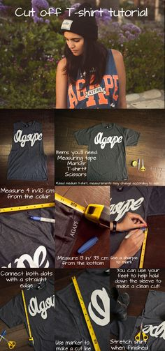 Agape Attire cut off tee tutorial