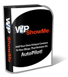 WP ShowMe is a simple Wordpress plugin that allows you to add your own unique content to the end of every blog post! There is no limit to what you can do with WP ShowMe!