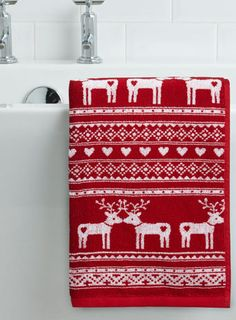 Stenciled Christmas Hand Towel Peace Dove by FarmhouseHolidays ...