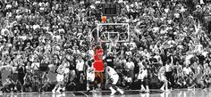 Michael Jordan's last shot as a Chicago Bull, and it won him his sixth NBA championship. It was one of the greatest moments in basketball, and one of the most memorable moments in sports history (1998)