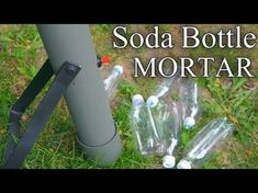 How to Make an Alcohol Mortar Launcher Survival Weapons, Survival Prepping, Survival Gear, Survival Skills, Pvc Projects, Projects To Try, Bottle Rocket Launcher, Cultura Maker, Bushcraft