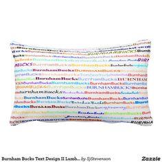 Burnham Bucks Text Design II Lumbar Pillow