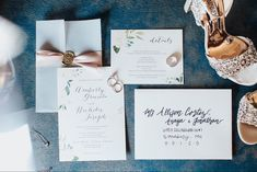Wedding invitation suite featuring watercolor flowers by Ivory Isle Designs photography by Brianna Lane Photography Spring Wedding Invitations, Floral Invitation, Floral Wedding Invitations, Invitation Suite, Response Cards, Digital Invitations, Save The Date Cards, As You Like, Vintage Floral