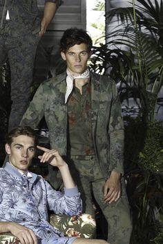 Giacca DaVinici Mason's Uomo in Jersey Camouflage