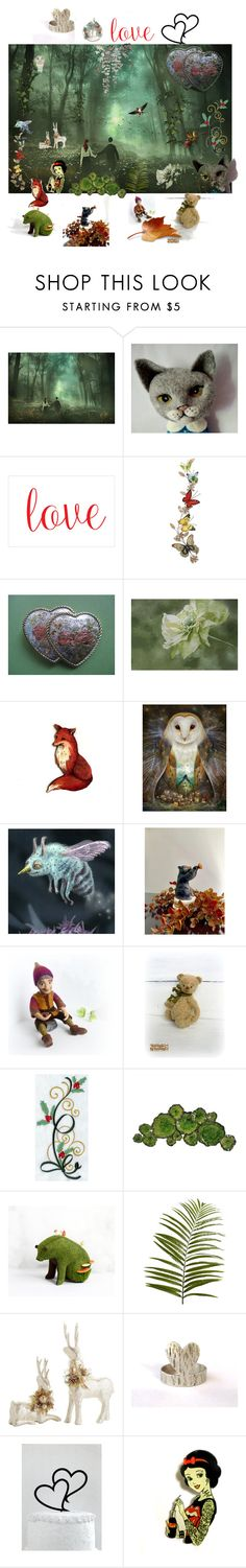 Love in the Wood by anna-recycle on Polyvore featuring Moe's Home Collection, Pier 1 Imports and Disney