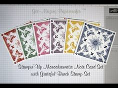 Stampin'Up Picture Perfect One Layer Note Card Set - Tips and Techniques - YouTube