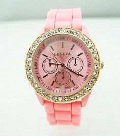 This pink Geneva watch....<3