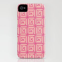 """""""Hot Pink Tribal"""" - iPhone Case"""