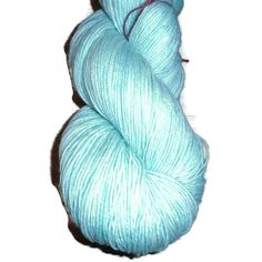 Mint Superwash Merino Fingering Yarn - Mint Hand Dyed Yarn - Mint Fingering Weight Merino Yarn - Light turquoise Sock Weight 4 Ply Yarn by SussesSpindehjrne on Etsy