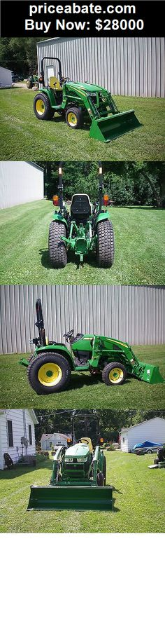 Heavy-Equipments: john deere 3046r compact tractor with h165 loader - BUY IT NOW ONLY $28000