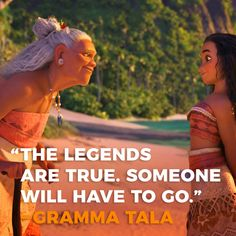 """She realized the island was in trouble and that someone needed to go and retrieve the stolen heart of Te Fiti. Without it, all hope was lost.  When that happens who will it be in your organization? Who will stand up and lead?  My guess is that it should be you. Do it!  #quotes #inspiration #disney #moana #business #leadership #mindset """"The legends are true, somone will have to go,"""" - Gramma Tala"""