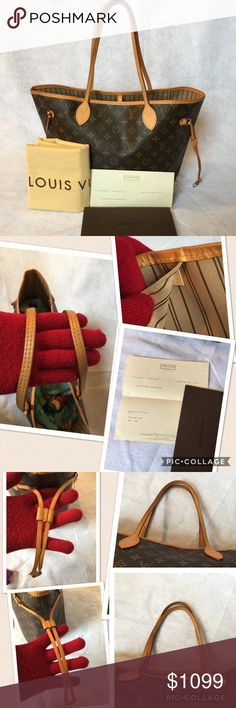 ❤💯Authentic Louis Vuitton Neverfull MM👜❤ 💯Authentic LOUIS VUITTON Neverfull MM W/ authenticity card. Made in France date code SF3195. Bought Jan 31st 2016. It has sigh of wear and stain of lipstick in the pocket but it's not really visible in real, as you can see in the picture but in over all still in excellent condition. No odor, very clean inside out. Ready to used. Comes with dust bag and authenticity card. Please check the pictures. ❌ trade. Thanks Louis Vuitton Bags Shoulder Bags