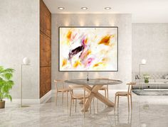 Large Modern Wall Art Painting,Large Abstract Painting on Canvas,bright painting art,painting canvas art,living room wall art