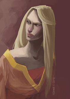 Cersei by Martina Cecilia Game Of Thrones Series, Game Of Thrones Art, Valar Dohaeris, Valar Morghulis, Cercei Lannister, Queen Cersei, John Snow, Fire Book, Dire Wolf