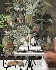 I cant wait to show you the wallpaper we installed today in what is sure to be Cape Towns hottest new fish restaurant. Cape Town, Cant Wait, Wall Design, Sweet Home, Table Settings, Restaurant, Fish, Wallpaper, Hot