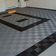 Rubberized Garage Floor Tiles
