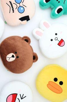 Cute wallpaper - Line toys Mobile Wallpaper, Iphone Wallpaper, Toddler Boy Dress Clothes, Rilakkuma Wallpaper, Cony Brown, Brown Line, Kawaii, Line Friends, Line Sticker