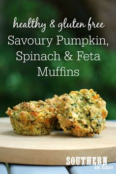 Healthy Savoury Pumpkin Spinach and Feta Muffins Recipe - gluten free healthy savory muffins clean eating recipe sugar free low fat butter free oil free low calorie freezer friendly lunch box recipes Healthy Savoury Muffins, Savory Snacks, Healthy Snacks, Healthy Eating, Keto Snacks, Party Snacks, Healthy Habits, Gluten Free Recipes, Vegetarian Recipes