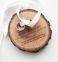 Ring Bearer Kiefer Holz und weiße Baumwolle von naneHandmade