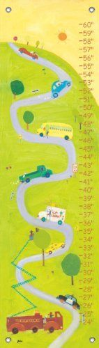 Oopsy daisy Up the Hill Growth Chart by Jenny Kostecki- Shaw, 12 by 42 Inches by Oopsy daisy, Fine Art for Kids. $40.73. Measures 12-inch by 42-inch. Track the height of children up to five feet. Art by Jenny Kostecki- Shaw. Giclee printed on canvas. Wipes clean with a damp cloth. Growth chart featuring transportation vehicles. Our kid's growth charts are created on the same artists canvas as our stretched wall art. Grommets placed in the four corners make them easy to hang. We...