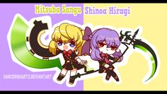 Chibi No Seraph - Mitsuba X Shinoa by DancerQuartz on DeviantArt