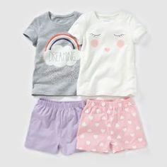 Pijama curto, jersey estampado, 2-12 anos (lote de 2) PEQUENOS PREÇOS