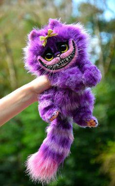 Baby Girl Cheshire Cat by GakmanCreatures on Etsy Cute Fantasy Creatures, Cute Creatures, Mythical Creatures, Chesire Cat, Cheshire Cat Plush, Cute Toys, Cute Baby Animals, Alice In Wonderland, Art Dolls