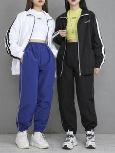 Adore these korean fashion ideas 5430334595 koreanfashionideas - korean fashion Teen Fashion Outfits, Edgy Outfits, Cute Casual Outfits, Mode Outfits, Korean Outfits, Retro Outfits, Sport Outfits, Sporty Fashion, Mod Fashion