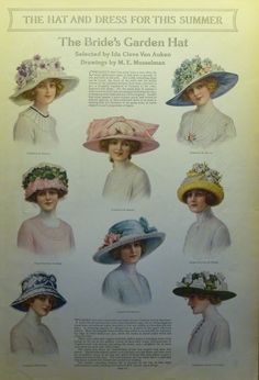 1912 ~ Ad: 'The Hat And Dress For This Summer' - (vintage lady, victorian era, millinery, fashion)