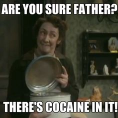 Brilliant episode of Father Ted, lol! British Tv Comedies, British Comedy, Ted Quotes, Still Game, Father Ted, British Humor, Uk Tv, Comedy Tv, Television Program