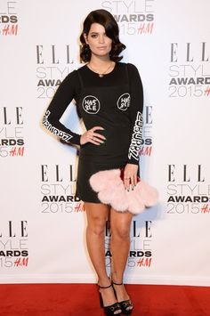 Pin for Later: What Would the Elle Style Awards Be Without Some Killer Outfits? Pixie Geldof All eyes were on Pixie's brilliant furry fan clutch.